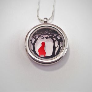 Red Riding Hood Papercut Pendant - necklaces & pendants