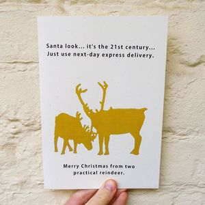 Personalised Joke 'Reindeer' Christmas Card