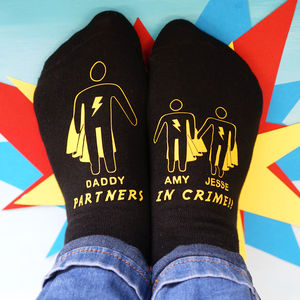 Personalised My Superhero Men's Socks