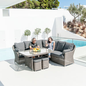 Monte Carlo Square Table Casual Dining Set - garden furniture