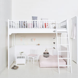 Children's Luxury Loft Bed In White - beds