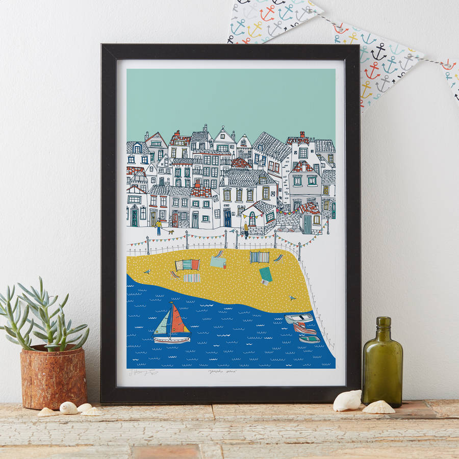 Seaside Scene Art Print