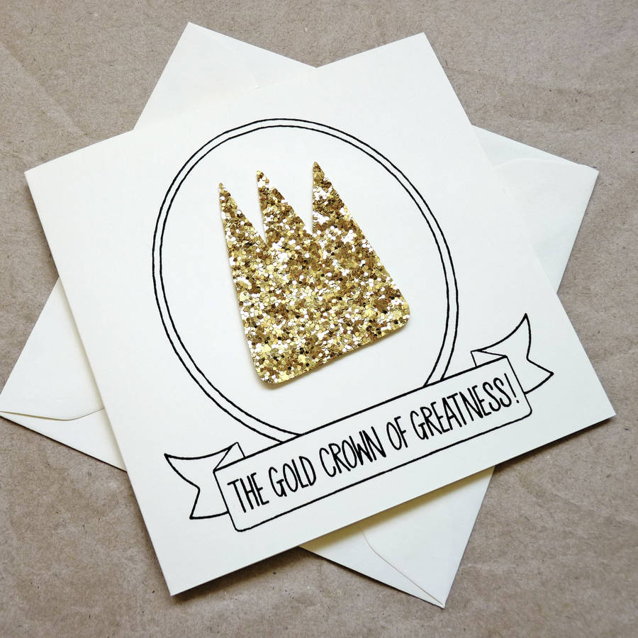 Gold crown of greatness good luck card by be good darcey gold crown of greatness good luck card kristyandbryce Images