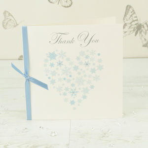 10 Personalised Ice Thank You Cards
