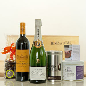 Champagne And Fine Wine Gift Hamper Box - luxury hampers