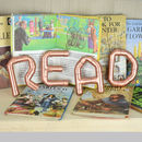copper letters-read letters-read sign-copper alphabet-nursery signs-nursery letters-art-wallart-copper signage-letters-alphabet letters-wall letters-studio accessories-copper art