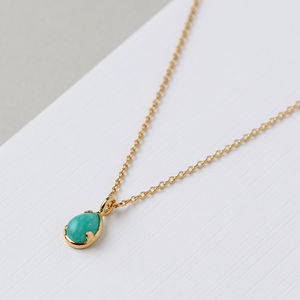 Semi Precious Amazonite Pendant Necklace - necklaces & pendants
