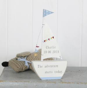 Personalised Sail Sailing Boat