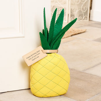 Fabric Pineapple Doorstop