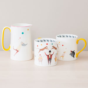 Circus Theme Bone China Mug - children's tableware