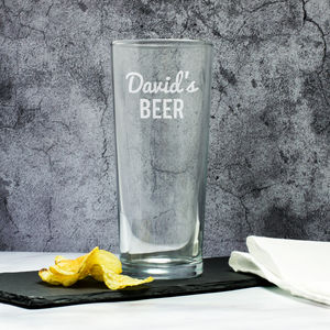 Personalised Beer Pint Glass - 21st birthday gifts