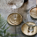 Lena Brass Coasters, Set Of Four