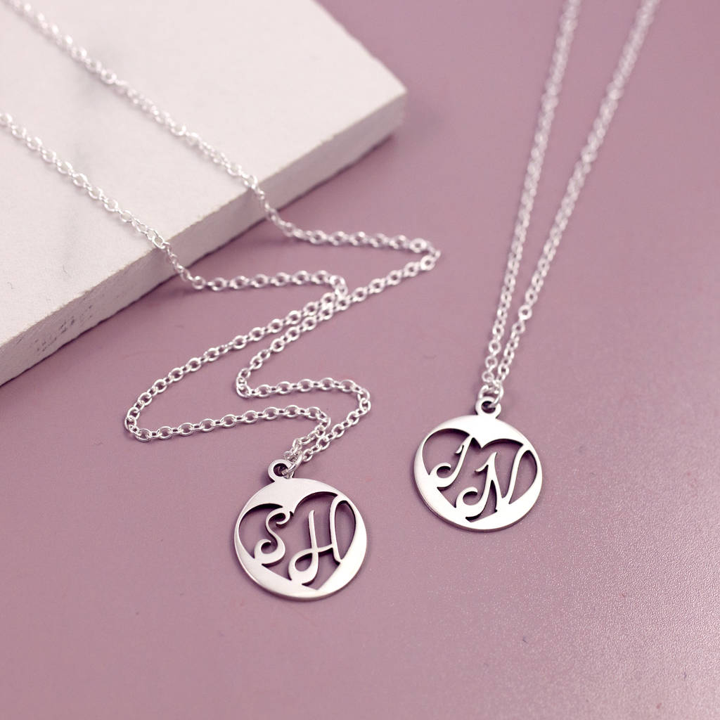 37563358a2088 Anniversary Sterling Silver Initial Necklace