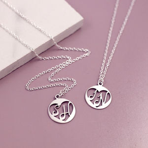 Anniversary Sterling Silver Initial Necklace