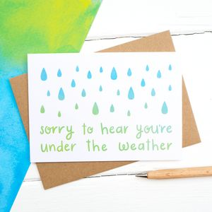 Under The Weather Get Well Soon Card - shop by category