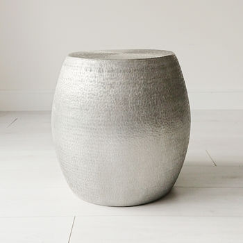 Textured Aluminium Side Table