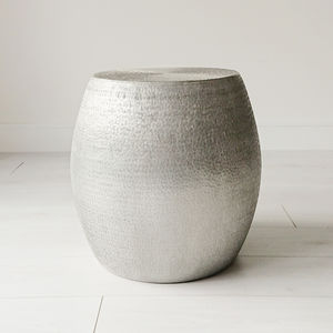 Textured Aluminium Side Table - furniture