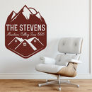 Ski Mountain Wall Sticker