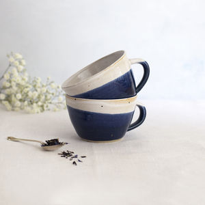 Handmade Dinky Cup Midnight Blue - housewarming gifts