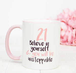 21st Birthday Gift Mug - shop by occasion