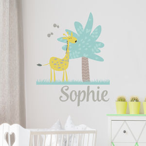 Personalised Giraffe Jungle Wall Sticker
