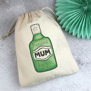 Gin Gift Bag For Mum With Mint Seeds - wrapping
