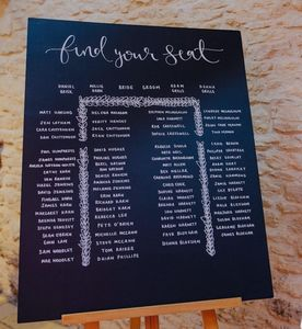 Large Personalised And Bespoke Chalkboard Table Plan - table plans