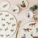 Fox And Rabbits Placemats