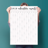 2018 Adventure Awaits Wall Planner - stationery