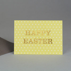 Happy Easter Spotty Card