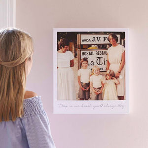 Personalised Giant Retro Style Photo Canvas - capturing memories