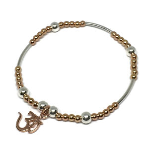 Rose Gold Bracelet With Om Charm - gold bracelets