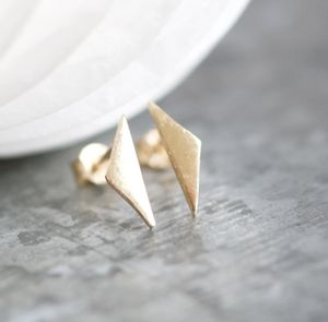 Handmade Solid Gold Triangle Earrings - new in jewellery