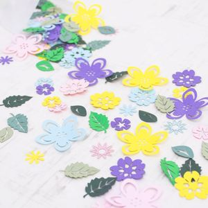 Spring Flower And Leaf Papercut Confetti