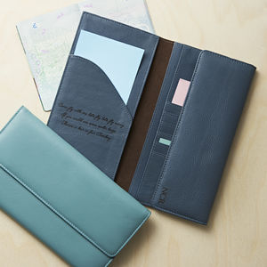 Personalised Leather Travel Wallet - personalised mother's day gifts