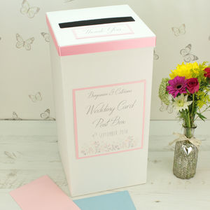 Personalised Emma Wedding Post Box - styling your day sale