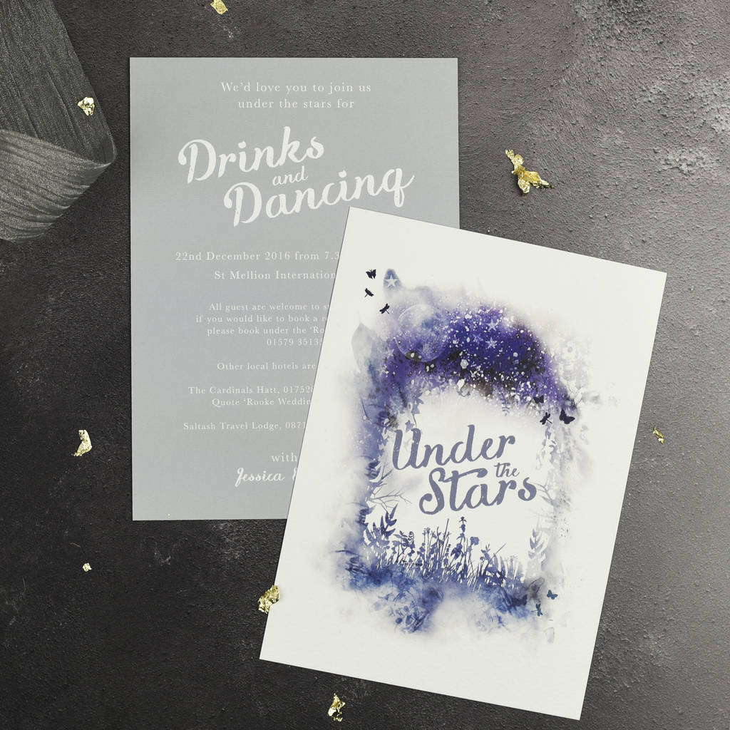 Magical Wedding Evening Invitation By Julia Eastwood