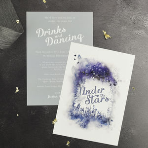 Magical Wedding Evening Invitation - invitations