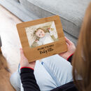 Personalised New Baby Bamboo Photo Board
