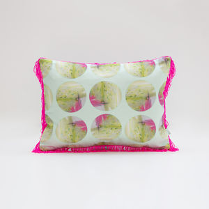 Graffiti Fringe Cushion