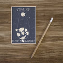 To The Moon Wooden Postcard By Timbergram