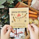 Personalised 'Grow My Nose' Carrot Seed Packet