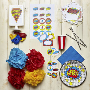 Superhero Personalised Kid's Partywear Pack - childrens birthday