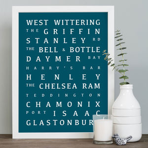 Personalised Special Destinations Print - gifts for travel-lovers