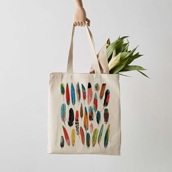 Feathers Canvas Tote Bag