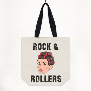 Rock And Rollers Women's Canvas Slogan Shopper
