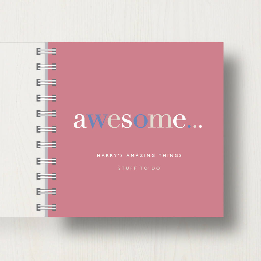Personalised 'Awesome' Stuff To Do Small Notebook