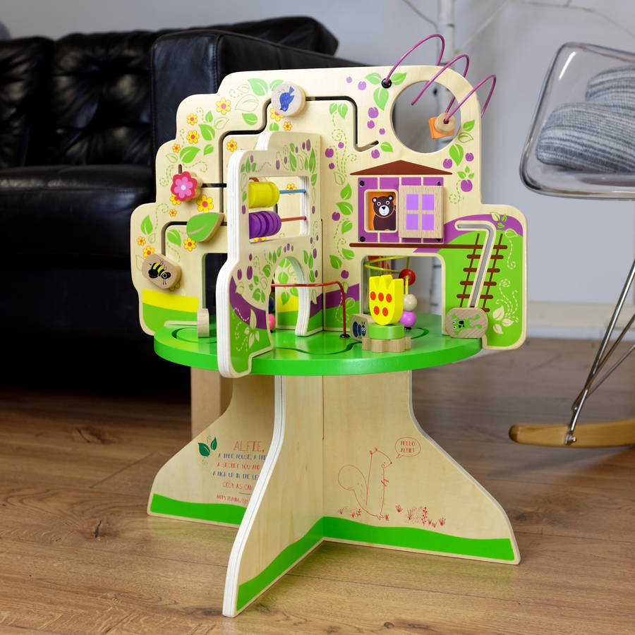 Personalised Wooden Tree Activity Toy