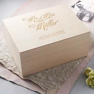 Large Personalised Elegant Wedding Keepsake Box - personalised wedding gifts