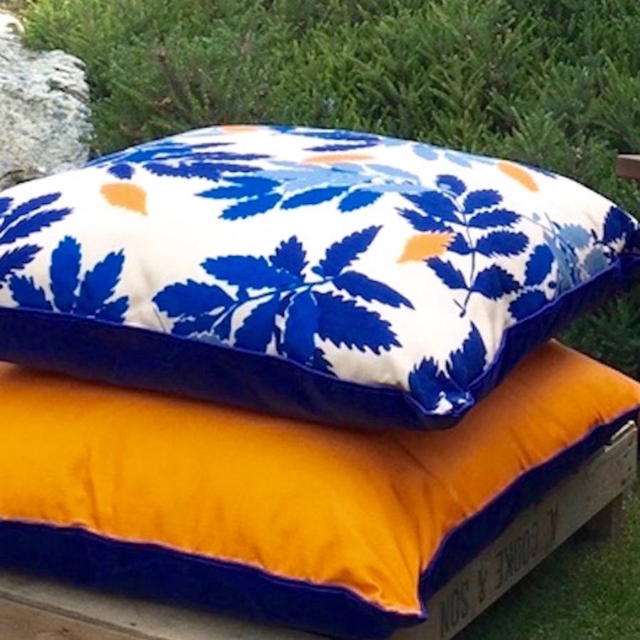 extra large garden floor cushion by denys & fielding notonthehighstreet.com
